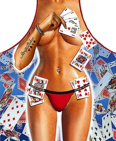 Strippoker Frau lustige Schürze ITATI