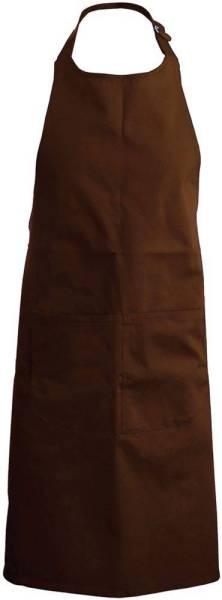 Braune Latzschürze mit Taschen K890