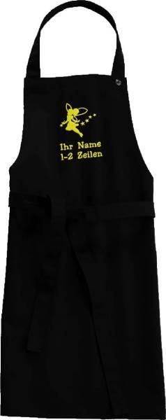 Kinderschürze Fee mit Name bestickt Küchenfee/Backfee