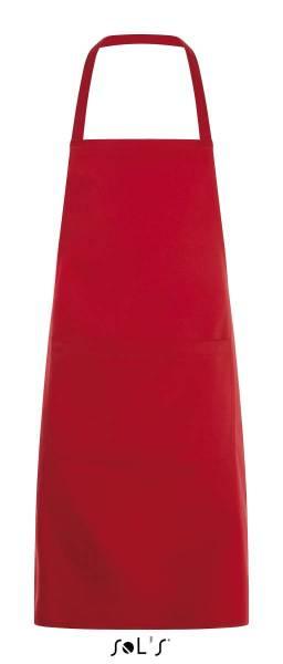 Rote Latzschürze mit Tasche Sol´s Gramercy