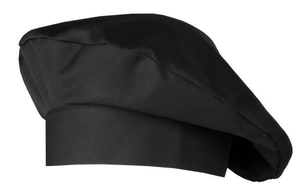 Schwarze Kochmütze Bistromütze Fano