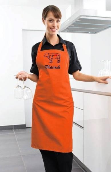 Orange Schürze Filetstück Rind
