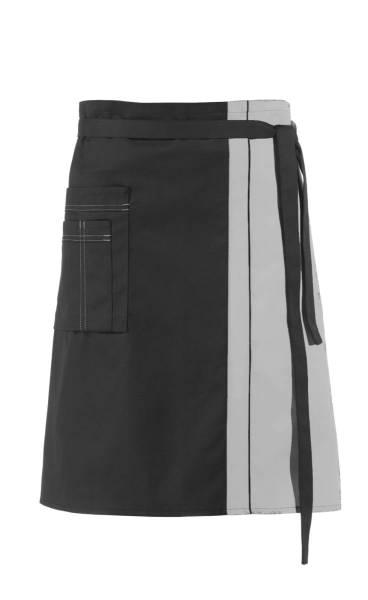 Schwarzer Vorbinder Kontrastfarbe Grau