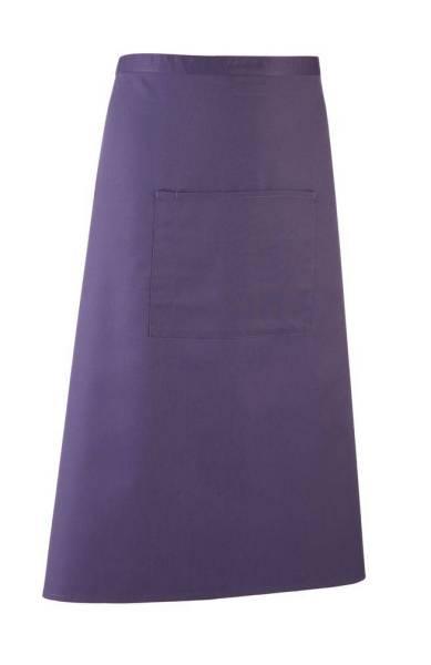 lila Bistroschürze mit Tasche pr158