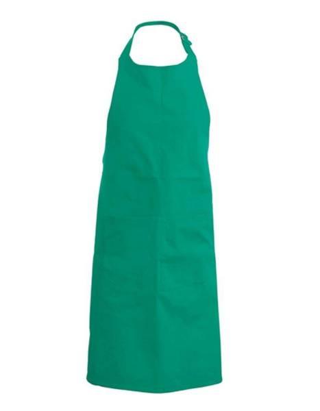 Grüne Baumwollschürze mit Taschen Kariban K889