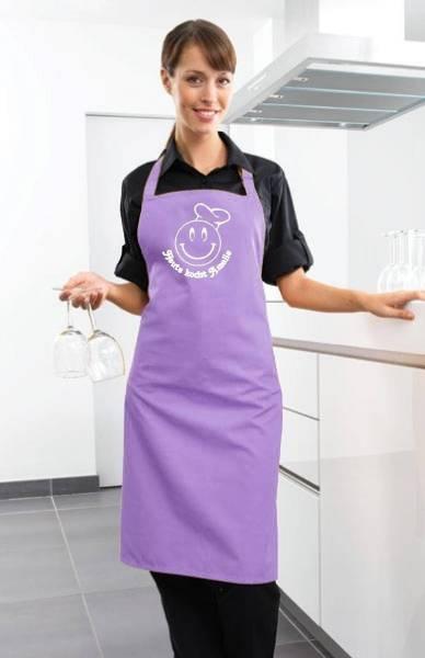 Lilac heute kocht Motivschürze mit Namen