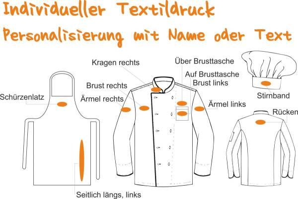 Textildruck, Arbeitskleidung bedrucken, Berufsbekleidung individuell