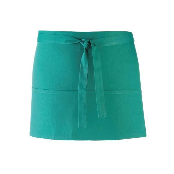 emerald grüner Vorbinder / kurze Kellnerschürze