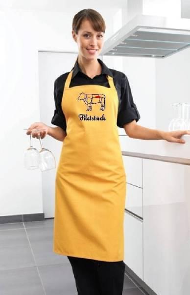 Gelbe Schürze Filetstück Rind