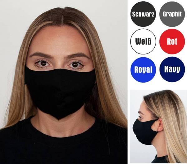 Mund-Nasen-Maske waschbar bis 95 Grad 100'% Baumwolle