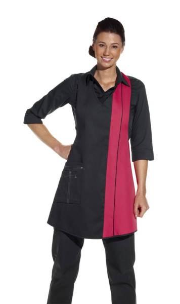 Damenschürze schwarz-rosa leiber 2540