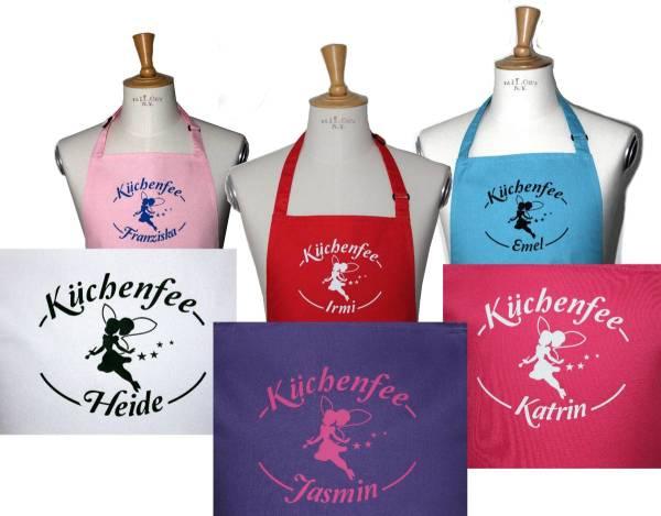 Kinderschürze Küchenfee mit Name bedruckt