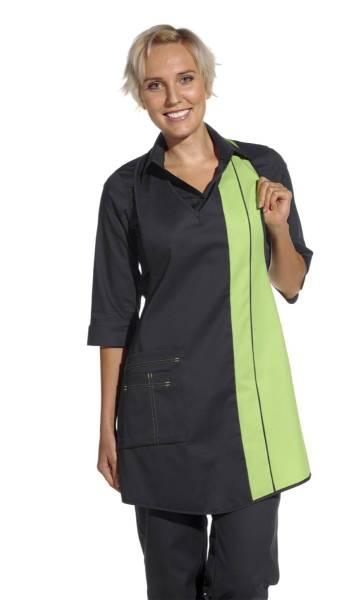 Damenschürze schwarz-grün leiber 2540