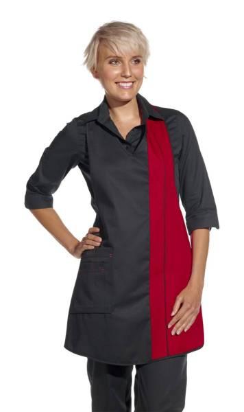 Damenschürze schwarz-rot leiber 2540