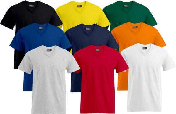 Herren T-Shirt V-Kragen 60 Grad waschbar