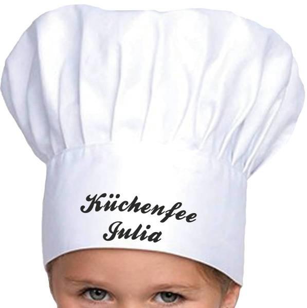 Kinderkochmütze mit Name bedruckt