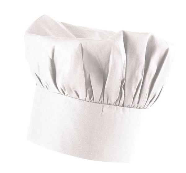 Weiße Kochmütze aus Baumwolle EX112