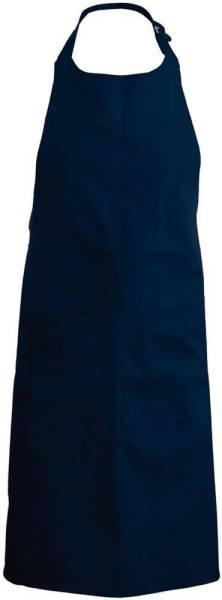 Dunkelblaue Latzschürze mit Taschen K890 Navy