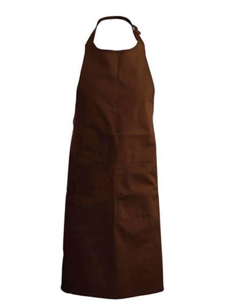 Chocolate Baumwollschürze mit Taschen K889