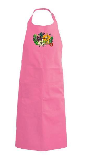 Pinke Kinderschürze Gemüse k889