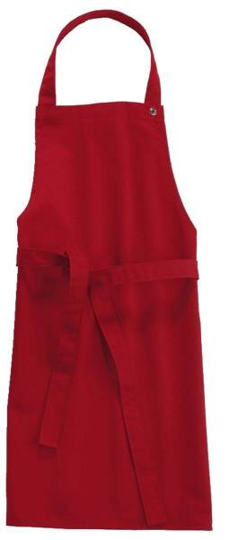 Rote Kinderschürze 50x78cm, 95 Grad waschbar, Sassari CG-Workwear