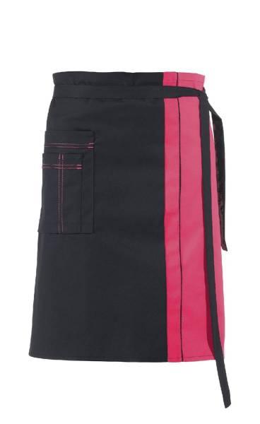 Schwarzer Vorbinder Kontrastfarbe Dunkelrosa