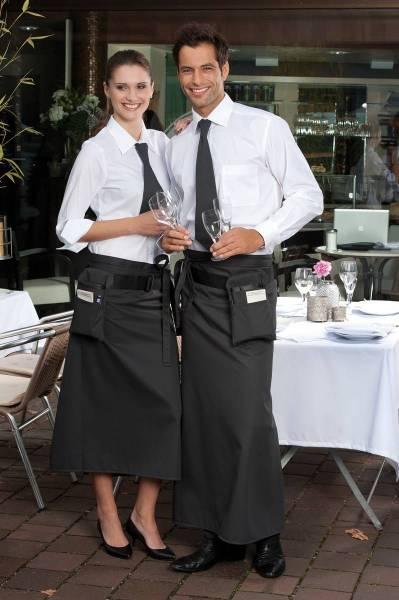 Dunkelgraue Bistroschürze Roma Raven von CG Workwear