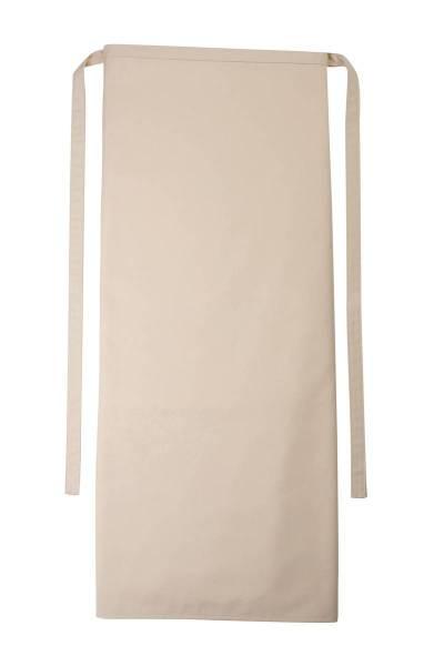 Hellbraune Bistroschürze 100x100cm Roma Sand von CG Workwear
