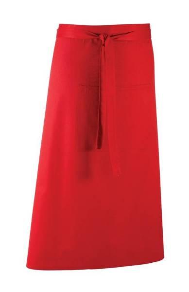 rote Bistroschürze mit Tasche pr158