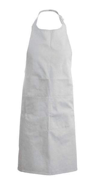 Hellgraue Baumwollschürze mit Taschen Kariban K885