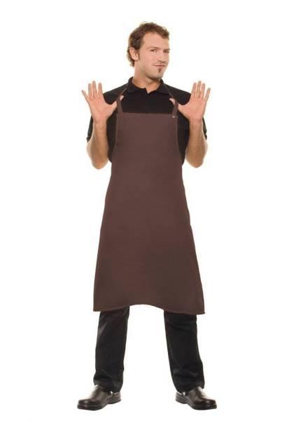 Braune Schürze, Nackenband mit Druckknöpfen Santorini von Karlowsky