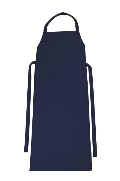 Dunkelblaue Latzschürze mit Tasche Verona von CG Workwear Alaska