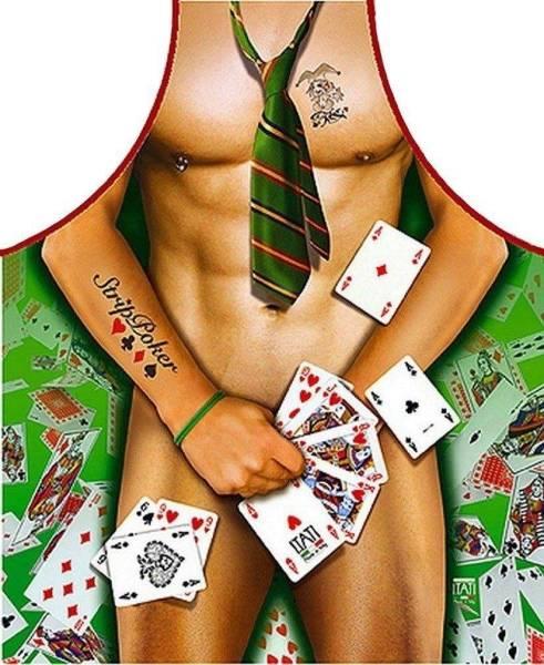 Strippoker Mann lustige Schürze ITATI