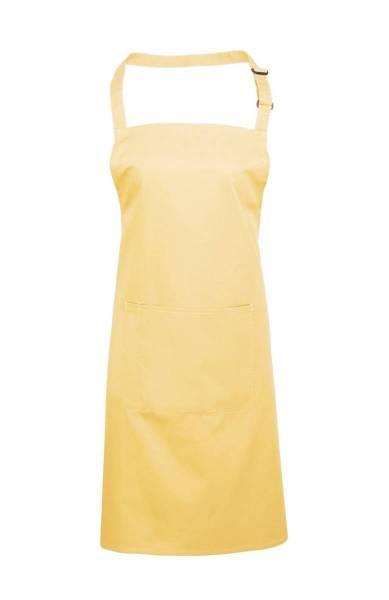 lemon Latzschürze mit Tasche gelb