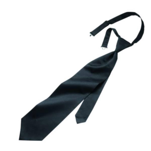 schwarze Krawatte vorgebunden
