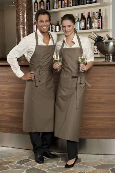 Taupe braune Latzschürze 110x78cm Verona von CG Workwear