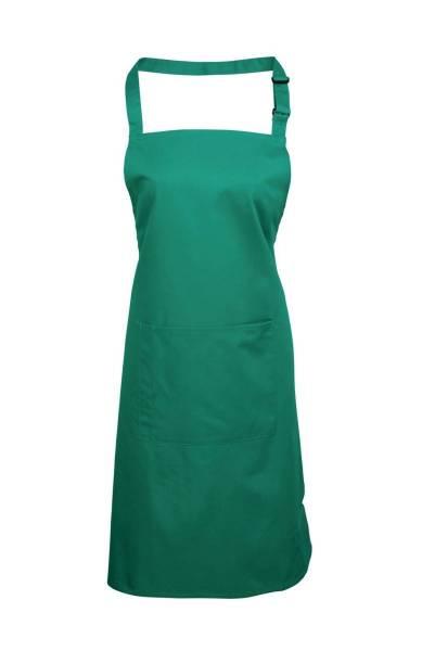 Emarald Latzschürze mit Tasche grün
